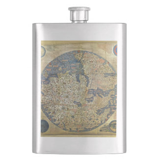 Fra Mauro Map Hip Flask