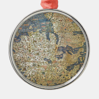 Fra Mauro Map Metal Ornament