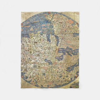 Fra Mauro Map Pillow Fleece Blanket