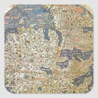 Fra Mauro Map Square Sticker