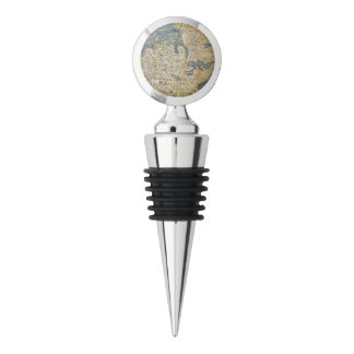 Fra Mauro Map Wine Stopper