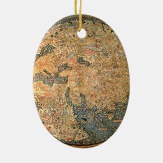 Fra Mauro world map Ceramic Ornament