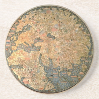 Fra Mauro world map Drink Coaster
