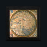 "Fra Mauro world map Jewelry Box<br><div class=""desc"">The Fra Mauro map was made between 1457 and 1459 by the Venetian monk Fra Mauro. It is a circular planisphere drawn on parchment and set in a wooden frame, about 2 meters in diameter. The original world map was made by Fra Mauro and his assistant Andrea Bianco, a sailor-cartographer,...</div>"