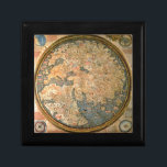 """Fra Mauro world map Jewelry Box<br><div class=""""desc"""">The Fra Mauro map was made between 1457 and 1459 by the Venetian monk Fra Mauro. It is a circular planisphere drawn on parchment and set in a wooden frame, about 2 meters in diameter. The original world map was made by Fra Mauro and his assistant Andrea Bianco, a sailor-cartographer,...</div>"""