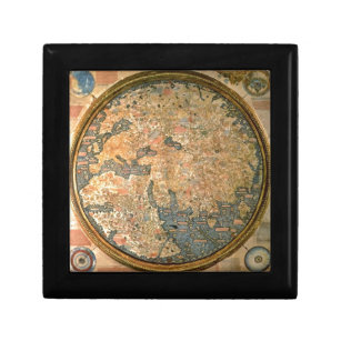 Old world map gift boxes keepsake boxes zazzle fra mauro world map jewelry box gumiabroncs Gallery