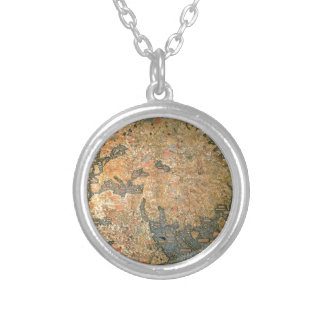 Fra Mauro world map Silver Plated Necklace