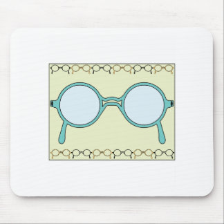 Fraamed Glasses Mouse Pad