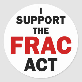 FRAC Act Stickers (white)
