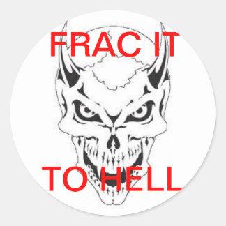 FRAC DEVIL CLASSIC ROUND STICKER