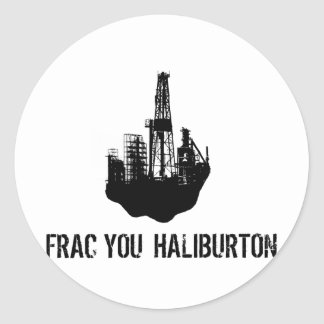 frac usted Haliburton Pegatina Redonda