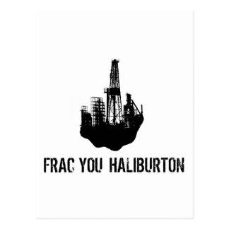 frac usted Haliburton Tarjeta Postal