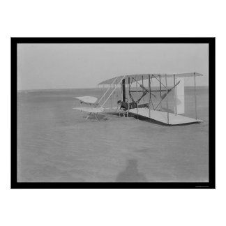 Fracaso 1903 del aeroplano de Kitty Hawk Poster
