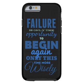 ¡Fracaso! Caso de Iphone 6 de la tipografía del Funda Para iPhone 6 Tough
