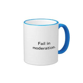 Fracaso en taza de la moderación