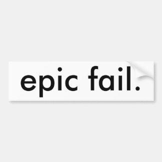 fracaso épico pegatina de parachoque