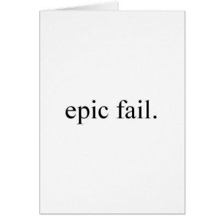 fracaso épico tarjeta de felicitación
