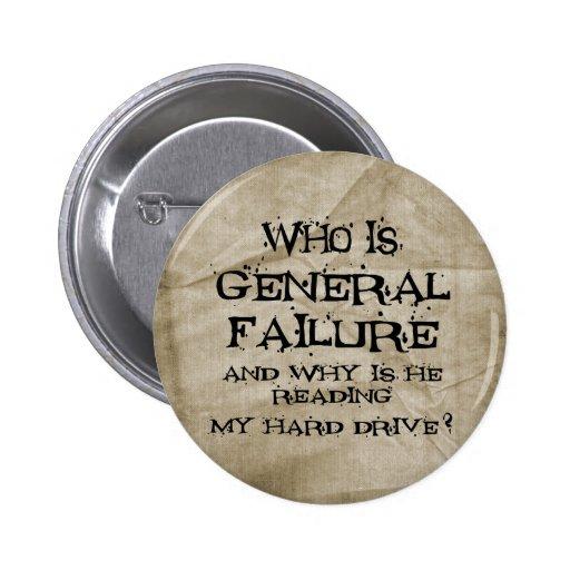 Fracaso general pin