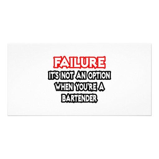 Fracaso… no un camarero de la opción… tarjetas fotográficas personalizadas