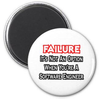 Fracaso… no una Software Engineer de la opción… Imán Redondo 5 Cm