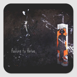 fracaso para prosperar pegatina cuadrada