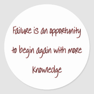 fracaso pegatina redonda
