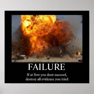 Fracaso - poster de motivación divertido póster