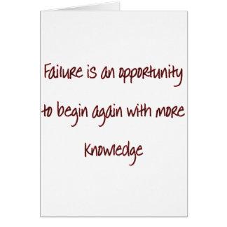 fracaso tarjeta de felicitación