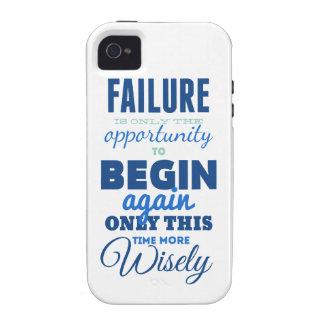 ¡Fracaso! Tarjeta inspirada de la tipografía del Case-Mate iPhone 4 Carcasas