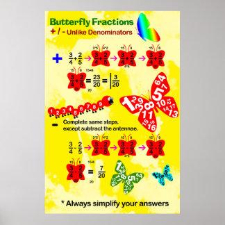 Fracción de la mariposa: Añadiendo y restando Póster