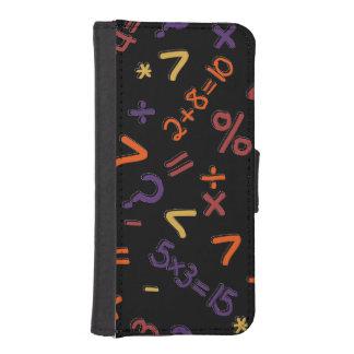Fracción y diseño del número en la caja de la billetera para teléfono