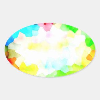 Fracciones de la luz y del color pegatina ovalada