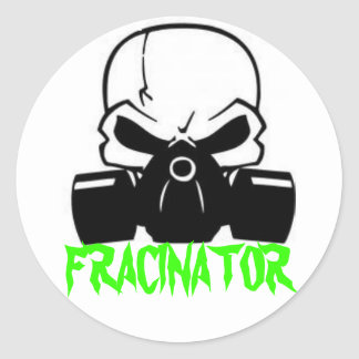 FRACINATOR CLASSIC ROUND STICKER