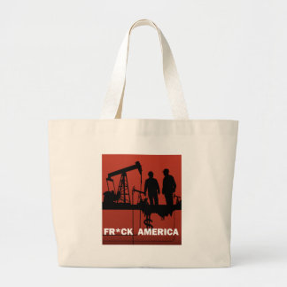 Frack America Large Tote Bag