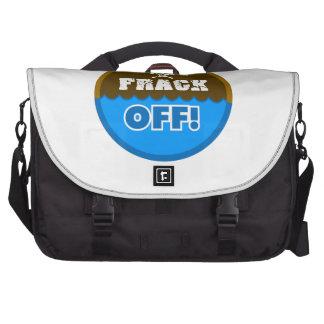 ¡FRACK APAGADO! - el fracking/contaminación/activi Bolsas Para Portatil