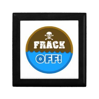¡FRACK APAGADO! - el fracking/contaminación/activi Joyero Cuadrado Pequeño