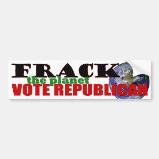 Frack el planeta pegatina de parachoque