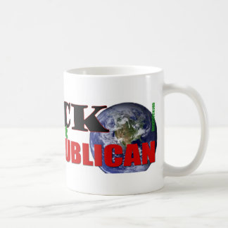 Frack el planeta taza de café