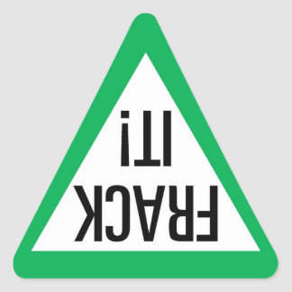 Frack It! Triangle Triangle Sticker