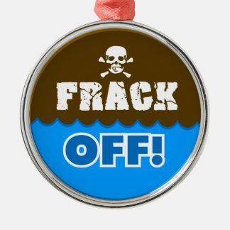 FRACK OFF! - fracking/pollution/activist/protest Christmas Tree Ornament