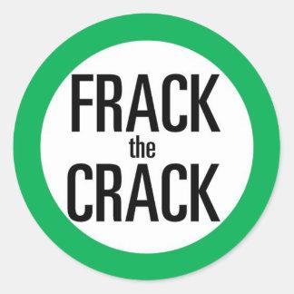 Frack The Crack Classic Round Sticker