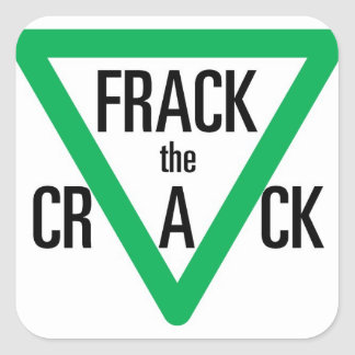 Frack The Crack Square Sticker