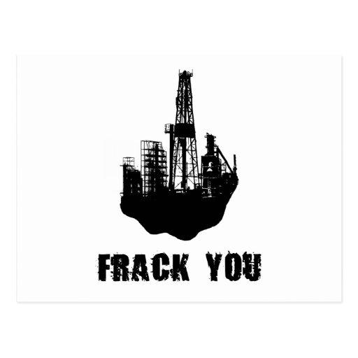 Frack You Postcard