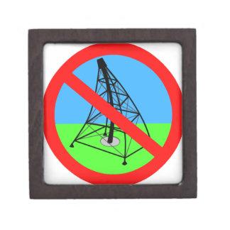 Fracking anti ninguna protesta de la perforación d cajas de joyas de calidad