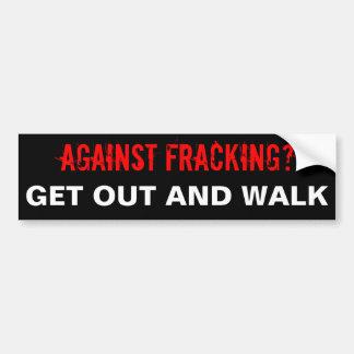 Fracking Bumper Sticker Black