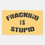 Fracking es estúpido rectangular altavoz