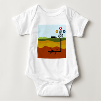 Fracking Oil Diagram Baby Bodysuit