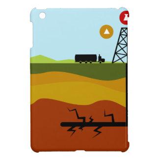 Fracking Oil Diagram iPad Mini Case