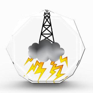 Fracking Oil Rig Symbol Graphic Award