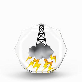 Fracking Oil Rig Symbol Graphic Acrylic Award